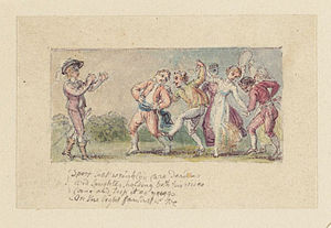 "L'Allegro - ""Sport that wrinkled Care derides..."", illustration by Thomas Stothard"