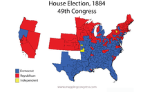 United States House Of Representatives Elections Wikipedia - Us map 1884