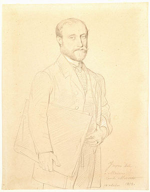 Hubert Rohault de Fleury (painter) - Hubert Rohault de Fleury in 1858 by Jean Auguste Dominique Ingres