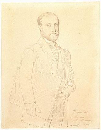 Hubert Rohault de Fleury (painter) - Hubert Rohault de Fleury in 1858 by Jean Auguste Dominique Ingres