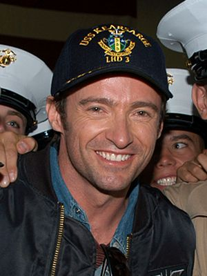 Hugh Jackman - Jackman in New York Harbor in 2006