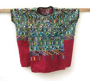 San Juan Cotzal - Image: Huipil San Juan Cotzal 1990 01