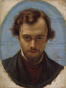 HUNT William Holman Portrait of Dante Gabriel Rossetti 1882-83
