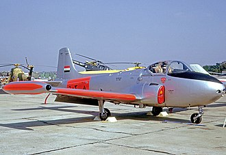 BAC Jet Provost - Jet Provost T52 of the Iraq Air Force at the Farnborough Air Show in 1964