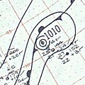 Hurricane Judith surface analysis October 20 1959.jpg