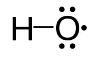 Radical (chemistry) - The hydroxyl radical, Lewis structure shown, contains one unpaired electron