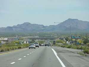 Interstate 10 in Arizona - Interstate 10 between Blythe and Quartzsite.