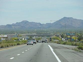 Interstate 10 in Arizona - Interstate 10 between Blythe and Quartzsite.