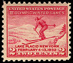 III Olympic Winter Games Lake Placid 2c 1932 issue U.S. stamp.jpg