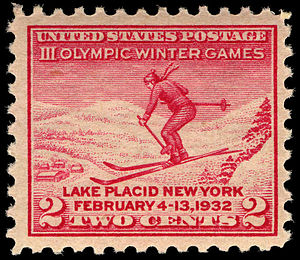 1932 Winter Olympics - III Olympic Winter Games U.S. commemorative stamp (1932)