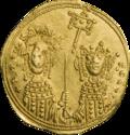 INC-1828-r Номисма стамена Зоя и Феодора ок. 1042 г. (реверс).png