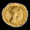 INC-1881-a Ауреус. Фаустина Младшая. Ок. 138—161 гг. (аверс).png