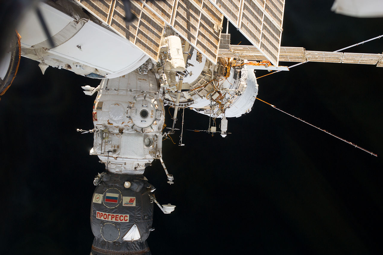 Cosmonauta en el módulo Pirs.