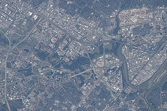 Dallas - Satellite image of Dallas