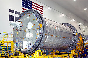 STS-124 - JEM Kibō Pressurized Module in assembly