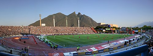 The Estadio Tecnologico , aside from hosting athletic and cultural events, hosts professional football matches since 1952 and served as an official venue for the 1983 FIFA World Youth Championship and the 1986 FIFA World Cup. ITESM Estadio Tecnologico.jpg