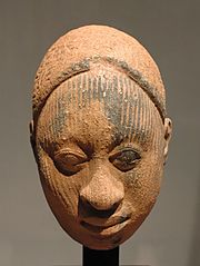 Ife head, terracotta, probably 12-14th centuries