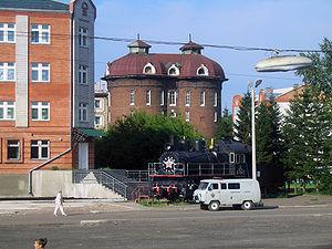 Ilansky (town) - A memorial train near Ilanskaya railway station in the town of Ilansky
