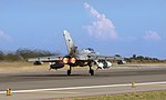 Image shows a Tornado GR4 powering down the runway at RAF Akrotiri in Cyprus. MOD 45163486.jpg