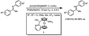 Hydrogenation of carbon–nitrogen double bonds - Image: Imine Scope 1