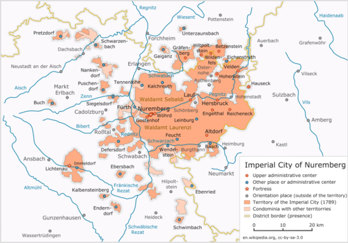 Free Imperial City of Nuremberg Wikipedia – Nuremberg Tourist Map