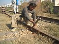 Indian Railways Track Maintenance, Dec 2007, in Jalandhar, Punjab, India.jpg