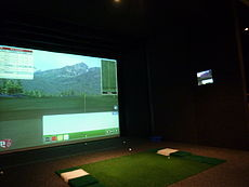 Indoor golf wikipedia for Golf simulator room dimensions