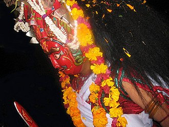 Bhairab Naach - Image: Indraini (Bhairab Naach mask)