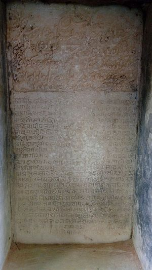 Mehsana - Persian and Devnagari inscriptions in Vav