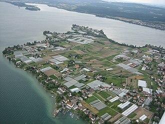 Reichenau Island - Aerial view of Reichenau Island