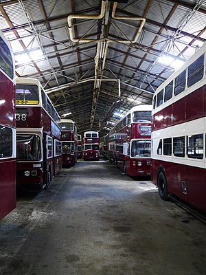 Scottish Vintage Bus Museum - Image: Inside The 'Edinburgh Shed', Scottish Vintage Bus Museum geograph.org.uk 3119233