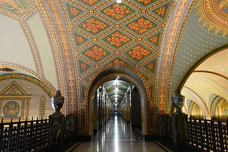 Interior of Fisher Building, Detroit.JPG