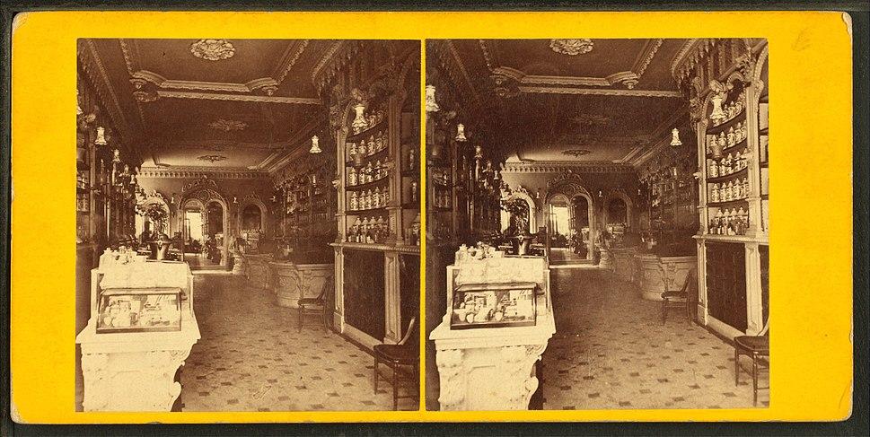Interior of apothecary%27s store, by John B. Heywood
