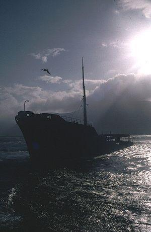 Irish Mercantile Marine during World War II - Inverlane before her wreck finally collapsed in 2000