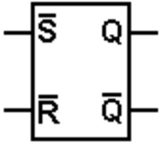 Flip-flop (electronics) - Image: Inverted SR latch symbol