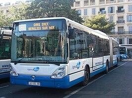 Ligne Azur Bus Nicenumero  Plande Ville
