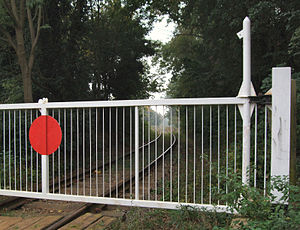 Northamptonshire Ironstone Railway Trust - A level crossing on the railway