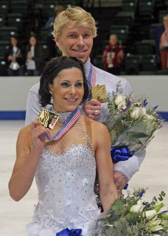 Isabelle Delobel - Delobel and Schoenfelder at the 2008 Skate America.