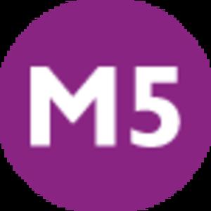 M5 (Istanbul Metro) - Image: Istanbul public transport M5 line symbol