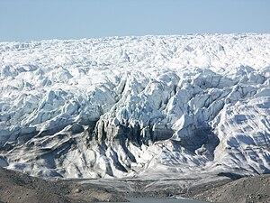 Isunngua - Isunnguata Sermia glacier forming the northern boundary of the Isunngua highlands