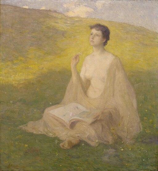 J. Alden Weir - The Open Book - 1929.6.157 - Smithsonian American Art Museum