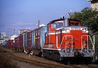Osaka Higashi Line - Image: JNR DD51 831 20011120