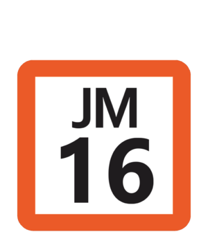 Minami-Nagareyama Station - Image: JR JM 16 station number