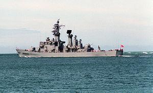 JS Asakaze underway off the coast of Hawaii, -1 Jun. 1991 a.jpg