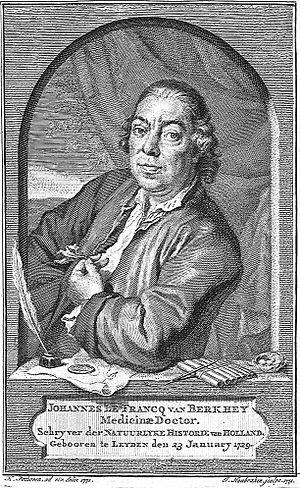 Johannes le Francq van Berkhey - Johannes le Francq van Berkhey by Jacob Houbraken after Hendrik Pothoven
