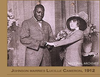 Mann Act - Jack Johnson marries Lucille Cameron 1912