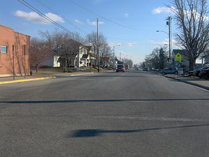 Ohio State Route 65 - View along State Route 65 in Jackson Center, Shelby County.
