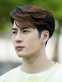 "Jackson Wang at a mini fanmeeting outside ""Show! Music Core"" studios, 1 June 2019 04.jpg"