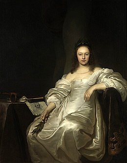 Jacob Adriaensz Backer - Portrait of a Lady as the Muse Euterpe - ca 1650.jpg
