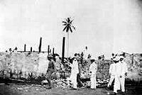 Jacob Smith and staff inspect Balangiga 1901.jpg